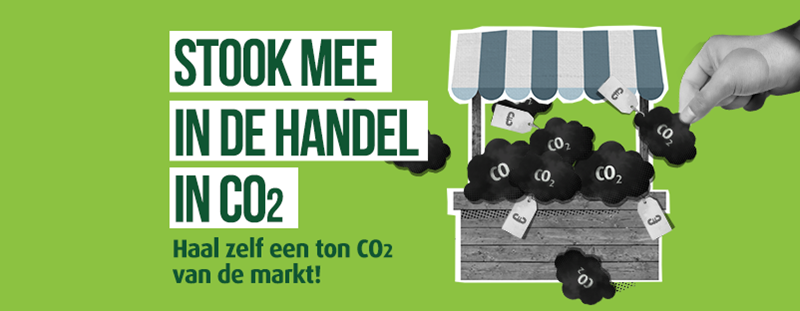 Stook mee in de handel in CO2